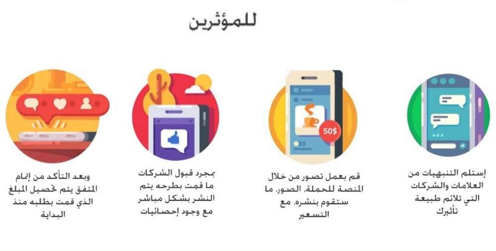 خطوات عمل المؤثر مع العلامة التجارية على حملة ما من خلال منصة عربوست