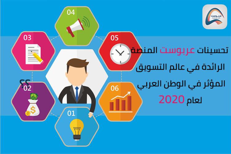 تحسينات عربوست لانجاح الحملات التسويقية في الوظن العربي لعام 2020